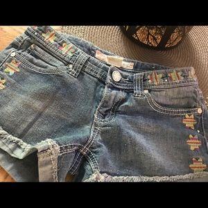 Girls Free Planet Jean shorts size 8